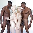 Elsa Jean  and Zoe Monroe Big Black Cock Foursome - image