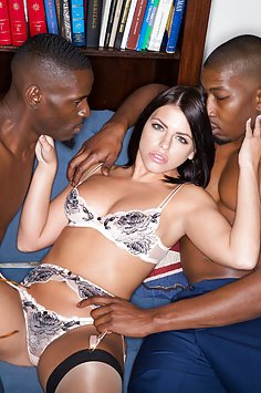Adriana Chechik And Three Big Black Cocks