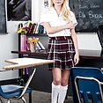 Naive Little Schoolgirl Fucks Teachers Big Black Cock - image