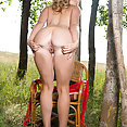 Hot Blond Outdoor Masturbation - image