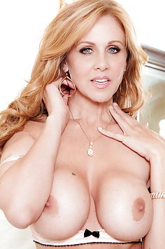 Busty Julia Ann Cumming and Smiling