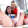 Nerdy Gamer Girls Share a Big Fuck Stick - image
