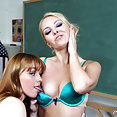 hot girls Aaliyah Love and Marie McCray Schoolgirl Fun - image