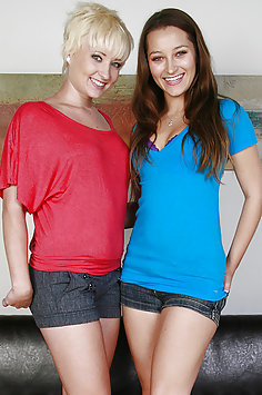 Dani Daniels and Nora Sky Girl Love