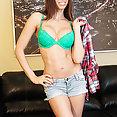 Tiffany Tyler Jean Shorts Sexy Babe - image