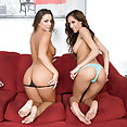 Pornstars Chloe Amour and Abigail Mac Making Out - image