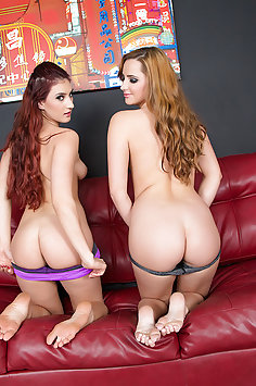 Pornstars Addison Ryder with Hope Howell Camming