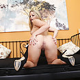 Gorgeous Blonde Alexis Texas Bent Over and Horny - image