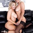 Adriana and Cameron Lesbian Loving - image