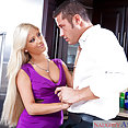 Rich blonde gets her fill of cock - image