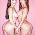 Lana Rhoades and Leah Gotti Cock Sharing - image