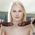 Lily Rader Takes Two Big Black Cocks - image