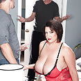 Chubby Paige Turner Takes Two Cock - image