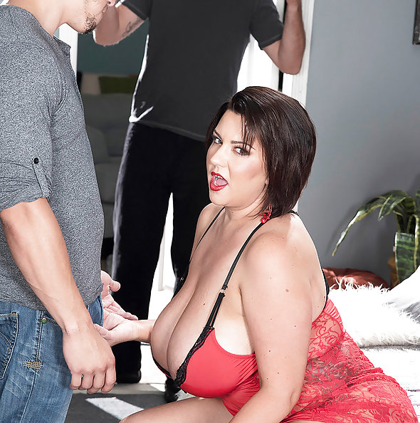 Chubby Paige Turner Takes Two Cock