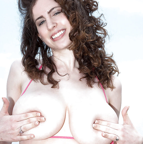 Lillian Faye busty at the  beach
