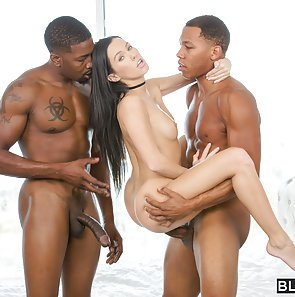 Megan Rain Takes Two Black Cocks