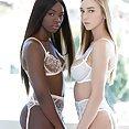 Kendra Sunderland Ana Foxxx Lesbian Interracial - image