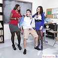 Naughty Step Son Gets School Threeway - image