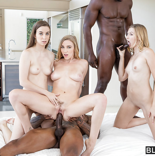 Three hot girls and Big Black Cock