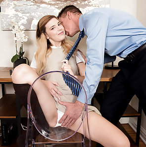 Schoolgirl Sucks Step Dad