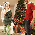 Angel Smalls Sucks Off Her Step Brother For Christmas - image