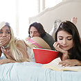 Adria Rae and Elizabeth Jolie Bang Her Step Brother - image