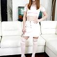Danni Rivers Very Short Skirt - image